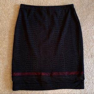Dresses & Skirts - Black Reptile Print Skirt || Large